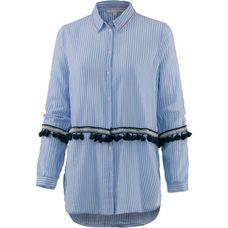 TOM TAILOR Langarmbluse Damen vertical-light-blue-stripe