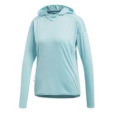 adidas Voyager Hoodie Funktionsshirt Damen Blue Spirit