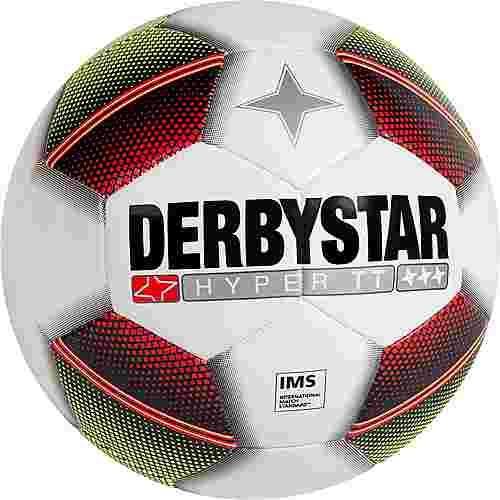 Derbystar Hyper Pro TT Fußball weiß / gelb / rot