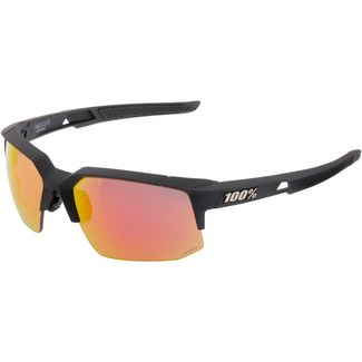 ride100percent Speedcoupe-HD Red Multilayer-Hiper Lens Sportbrille Soft Tact Black