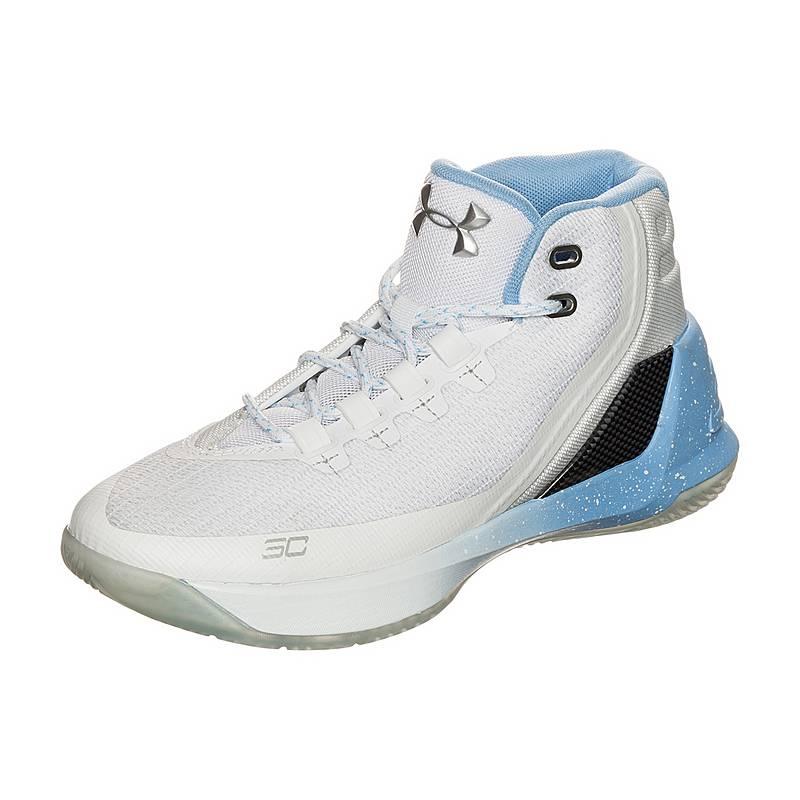 Under ArmourCurry 3  BasketballschuheKinder  weiß / blau