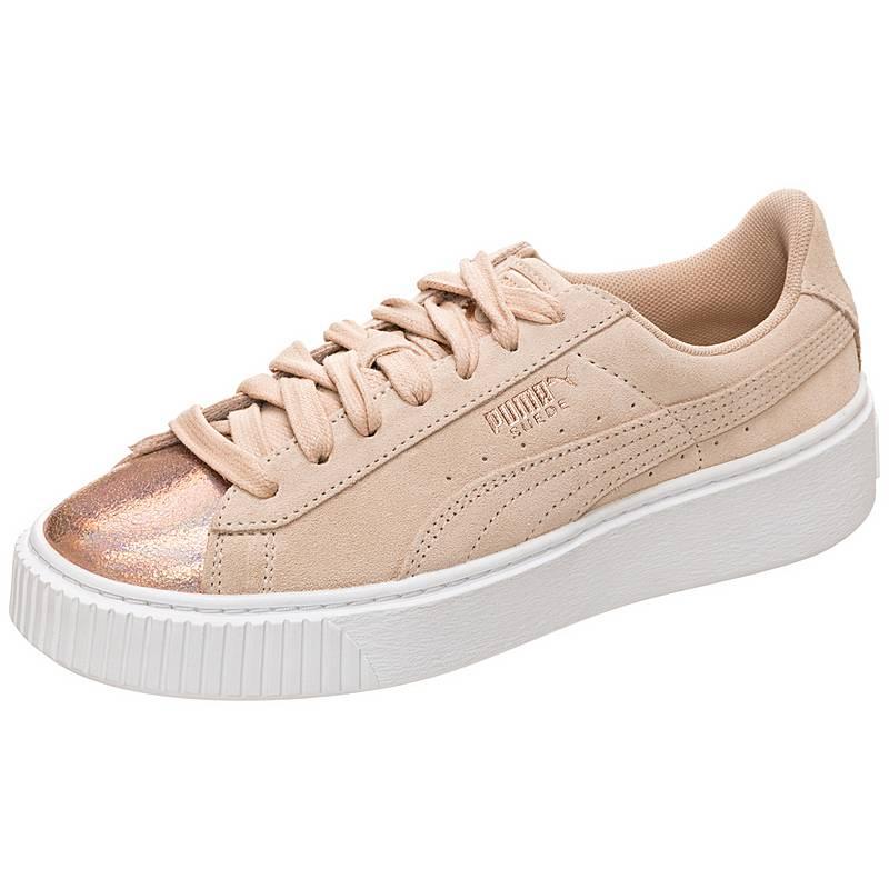 PUMA Suede Platform LunaLux Sneaker Damen grau   weiß im Online Shop ... cd8043b49a