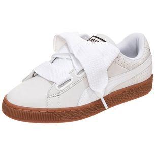 PUMA Basket Heart Sneaker Damen gold / weiß