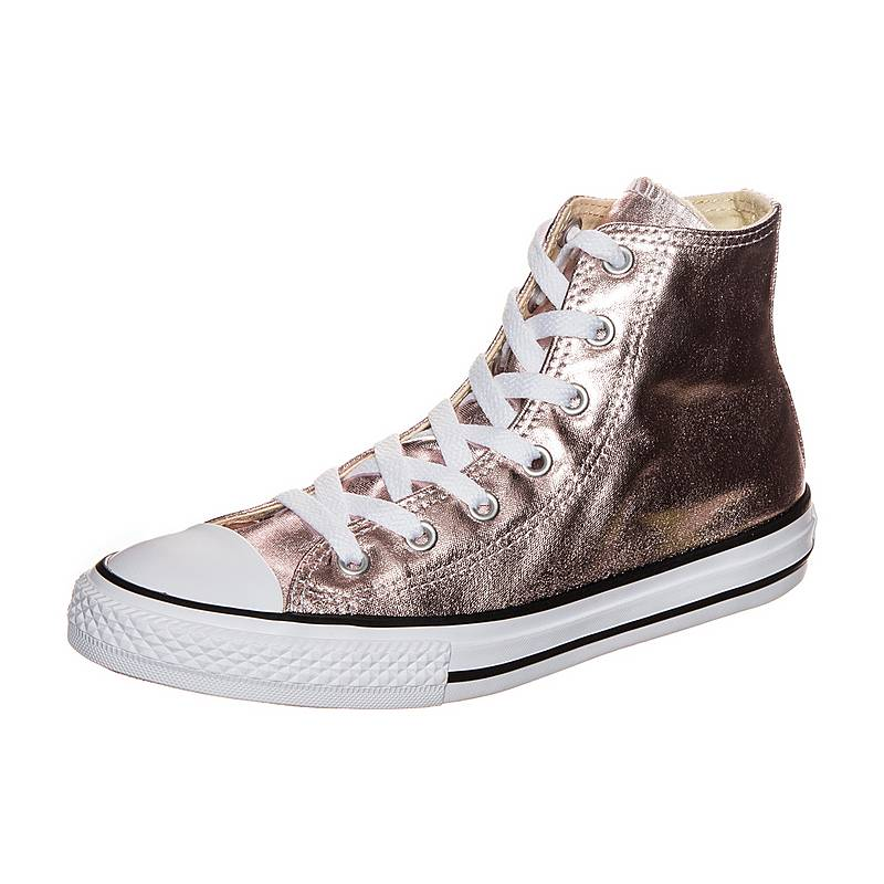 ef9586f46e83 CONVERSE Chuck Taylor All Star Metallic Canvas Sneaker Kinder rosegold    weiß