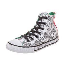 CONVERSE Chuck Taylor All Star High Street Sneaker Kinder weiß / grün / rot