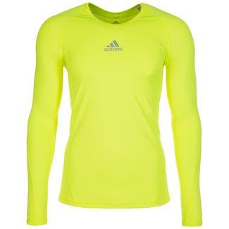 adidas AlphaSkin Sport Funktionsshirt Herren gelb