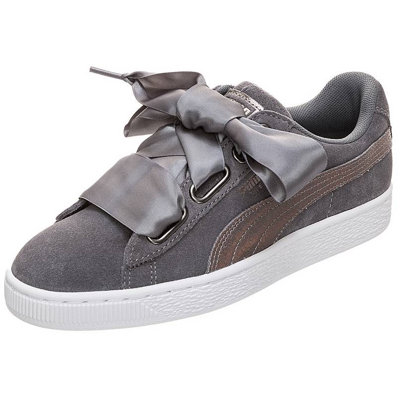PUMA Suede Heart LunaLux Sneaker Damen grau im Online Shop von ... c3f230fc76