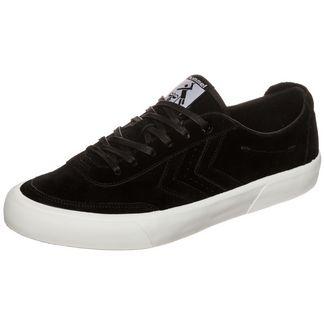hummel Stockholm Suede Low Sneaker Herren schwarz / weiß