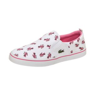 Lacoste Gazon Sneaker Kinder weiß / pink