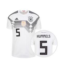 adidas DFB Trikot Hummels WM 2018 Heim Fußballtrikot Kinder weiß / schwarz