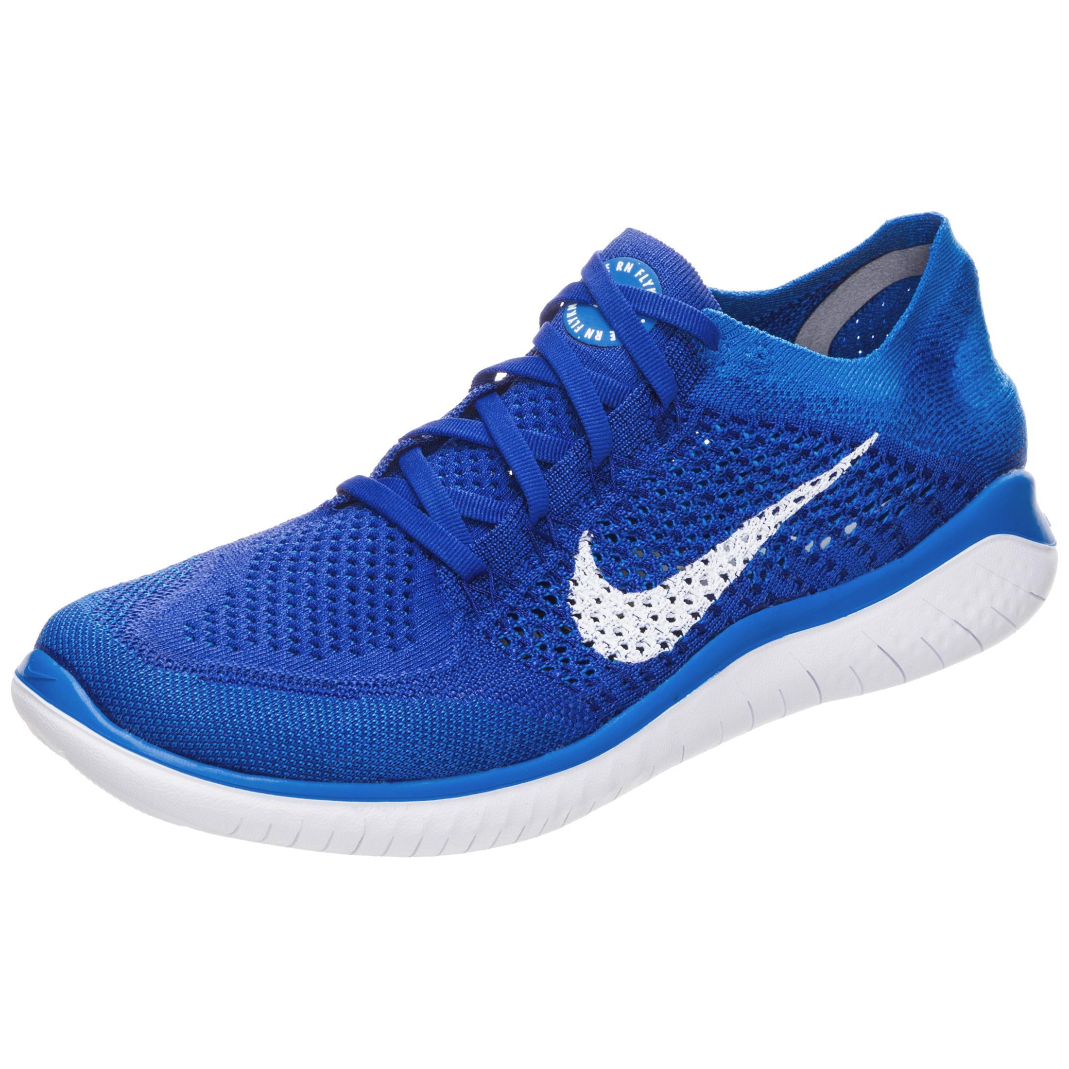 Nike Free RN Flyknit 2018 Laufschuhe Herren blau / weiß im Online Shop von  SportScheck kaufen