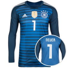 adidas DFB WM Neuer 2018 Heim Torwarttrikot Herren blau