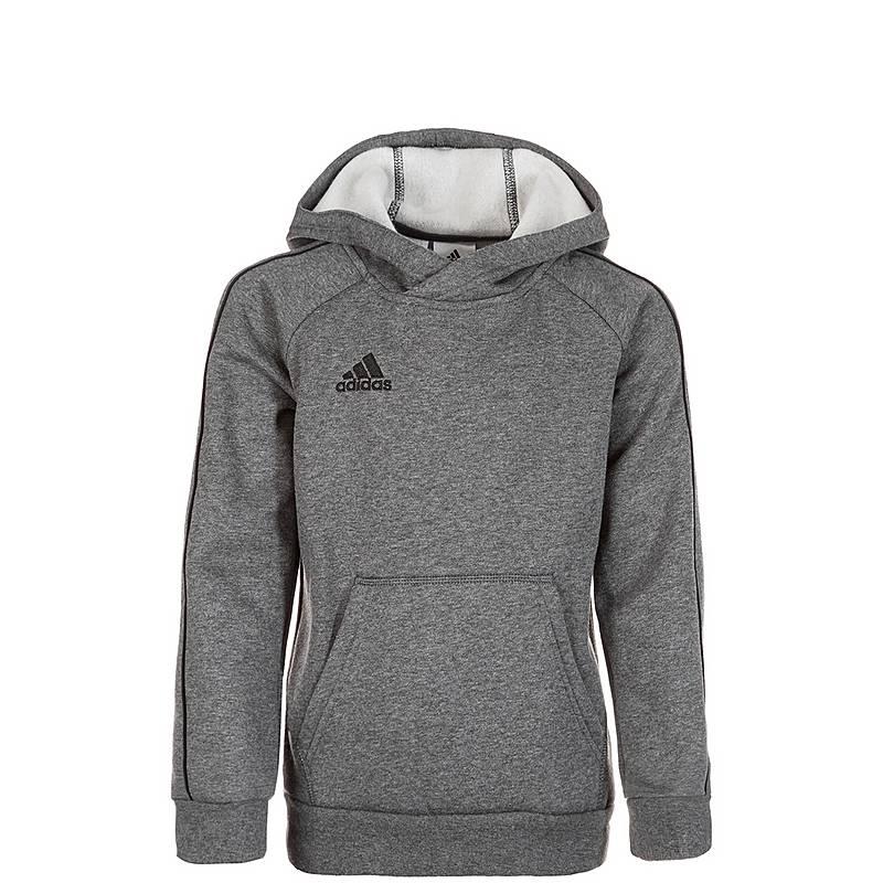 Adidas Core 18 Hoodie Jungen grau   schwarz im Online Shop von ... 2138c085ba