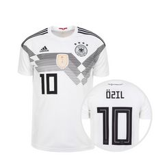 adidas DFB Trikot Özil WM 2018 Heim Fußballtrikot Kinder weiß / schwarz