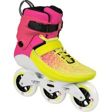 POWERSLIDE Swell Multicolor Flare 100 TRI Fitness Skates pink/gelb