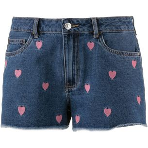 Only Jeansshorts Damen dark blue denim-hearts