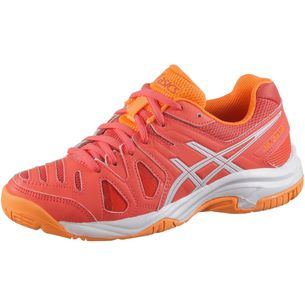 ASICS GelGame Tennisschuhe Kinder coralicious-white-orange pop