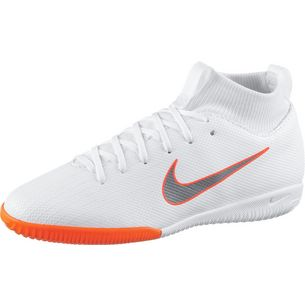 Nike JR MERCURIAL SUPERFLY 6 ACADEMY GS IC Fußballschuhe Kinder white-mtlc cool grey-total orange