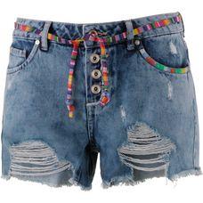 Only Jeansshorts Damen light-blue-denim