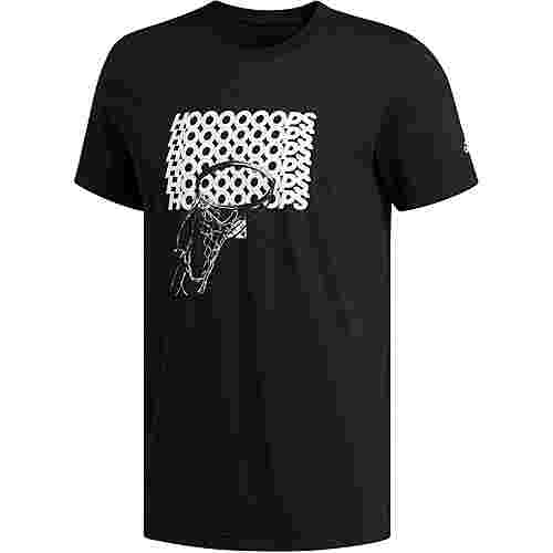adidas ADI HOOP T-Shirt Herren black