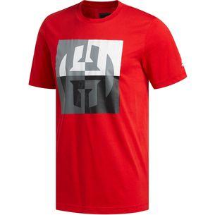 adidas HARDEN BIG LOGO T-Shirt Herren scarlet