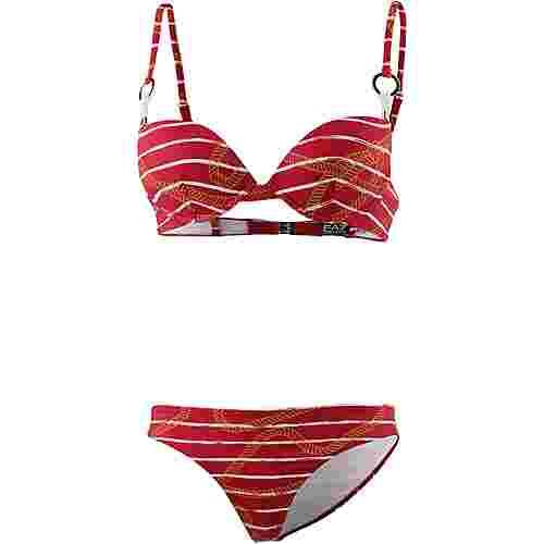 EA7 Emporio Armani Sea World Bikini Set Damen red-white