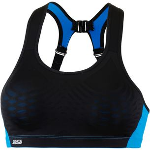Shock Absorber Fly Sport-BH Damen schwarz-meeresblau