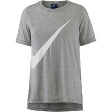 Nike T-Shirt Damen dark grey heather-white
