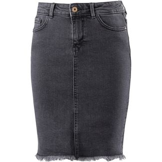 Only Jeansrock Damen medium grey denim