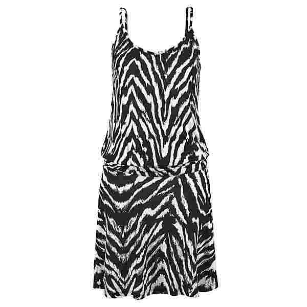 BEACH TIME Trägerkleid Damen schwarz-weiß-bedruckt