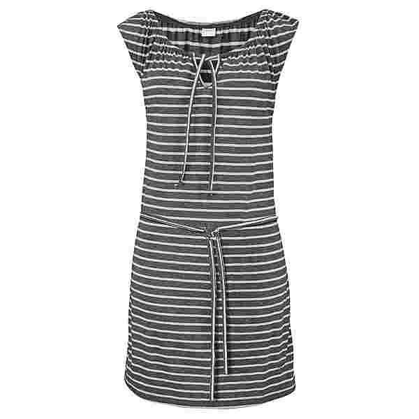 VENICE BEACH Kleid Damen anthrazit-weiß-gestreift