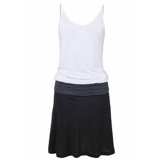 BEACH TIME Trägerkleid Damen schwarz-grau
