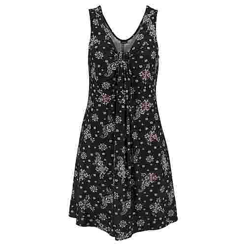 Lascana Jerseykleid Damen schwarz-rosa-bedruckt