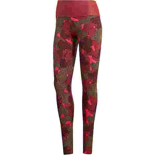 adidas Believe This Highrise Tights Damen noble maroon