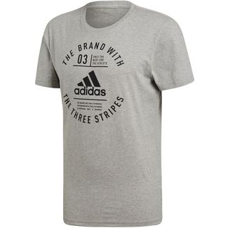 adidas EMBLEM T-Shirt Herren medium grey heather