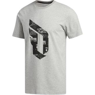 adidas DAME LOGO T-Shirt Herren medium grey heather