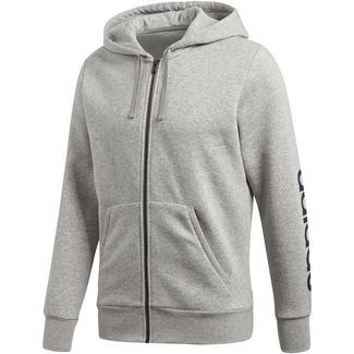 adidas Essential Linear Sweatjacke Herren medium-grey-heather-collegiate-navy