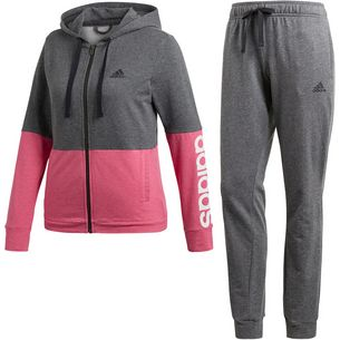 adidas WTS Trainingsanzug Damen dark grey heather/real magenta mel/white
