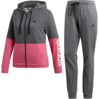adidas WTS Trainingsanzug Damen dark grey heather/real magenta mel/white