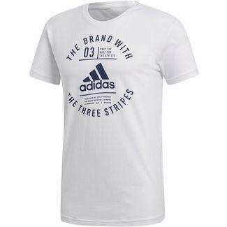 adidas Emblem T-Shirt Herren white