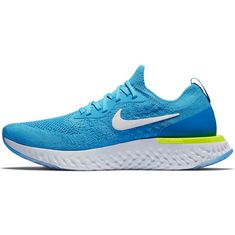 Nike EPIC REACT FLYKNIT Laufschuhe Herren blue-glow-white-photo-blue-volt-glow