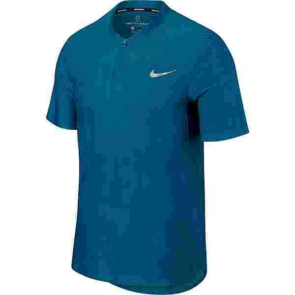 Nike French Open NKCT ZNL CL ADV POLO PS NT Tennis Polo Herren GREEN ABYSS/GREEN ABYSS/(METALLIC SILVER)