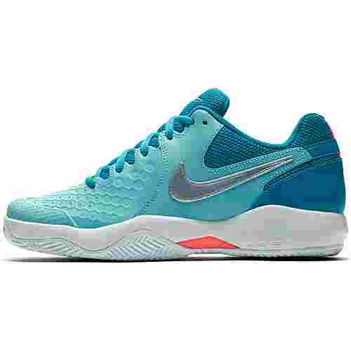 Nike WMNS AIR ZOOM RESISTANCE CLY Tennisschuhe Damen bleached aqua-mtlc silver