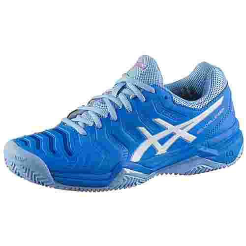 ASICS GEL-CHALLENGER 11 CLAY Tennisschuhe Damen electric blue-white
