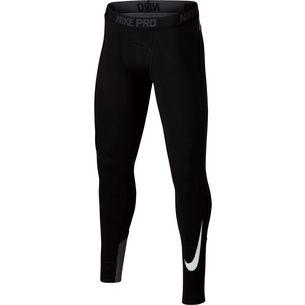 Nike Tights Kinder black-dark grey-white