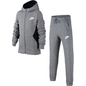 Nike Trainingsanzug Kinder carbon heather-black-white