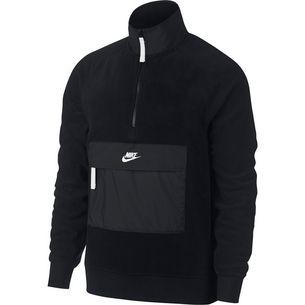 Nike NSW HZ Core Sweatshirt Herren black-black-white