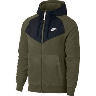 Nike NSW FZ Core Sweatjacke Herren olive-canvas-black-white