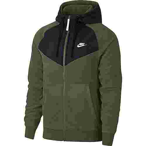 Nike NSW FZ Core Sweatjacke Herren olive-canvas-black-white