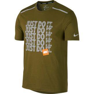 Nike Breathe Rise 365 Laufshirt Herren olive-flak-metallic-silverer-reflective-silver